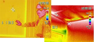 赤外線カメラを用いて原因を確実に特定