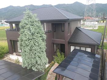 屋根はタスペーサー仕様/外壁は超防カビ仕様の付加価値満載仕上げ